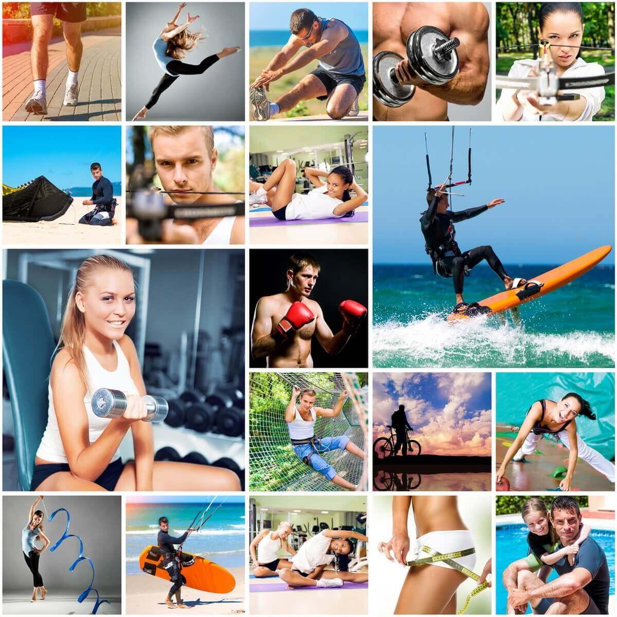 Спортивное оформление фотографий коллаж